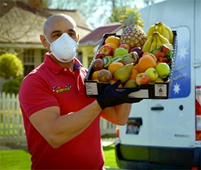 Fruit delivery with mask